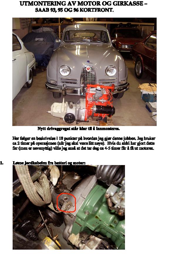 Utmontering Motor
